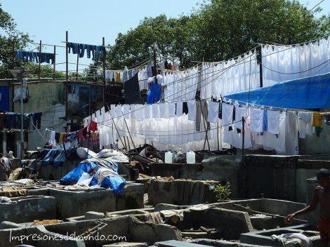 Lavadero de ropa en Bombay