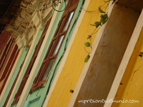 detalle casas de colores Panaji Impresiones del mundo