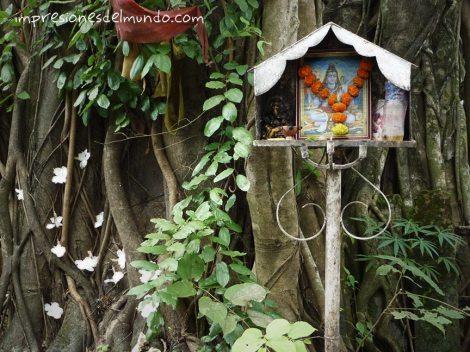 Shiva viejo Goa impresiones del mundo