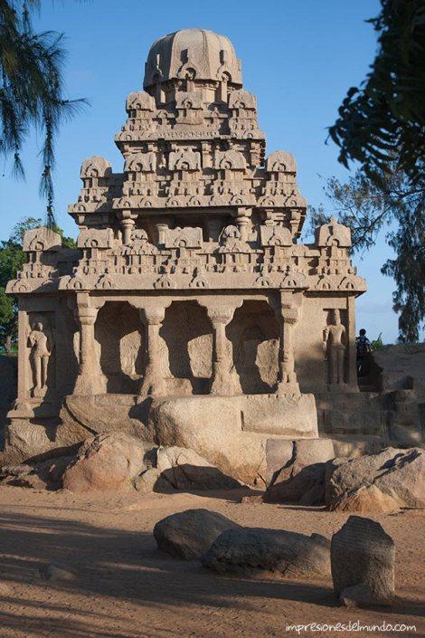 cinco-rathas-Mamallapuram-impresiones-del-mundo