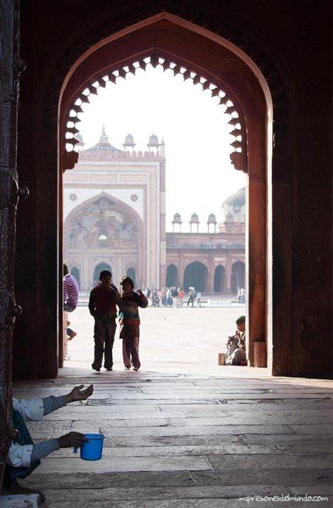 limosna Fatehpur-Sikri-impresiones-del-mundo