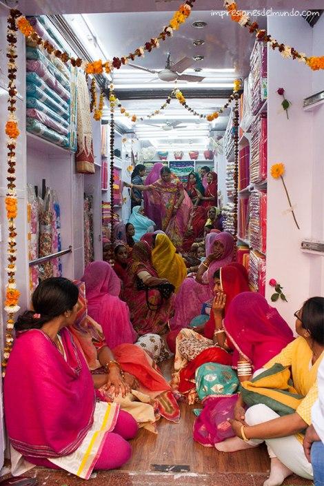 tienda-saris-Jaipur-impresiones-del-mundo