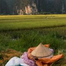 sombrero-vietnamita-y-paisaje-Tam-Coc-impresiones-del-mundo