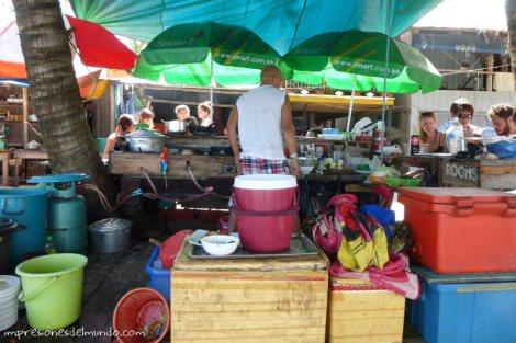 Koh-Rong-puesto-de-comida-impresiones-del-mundo
