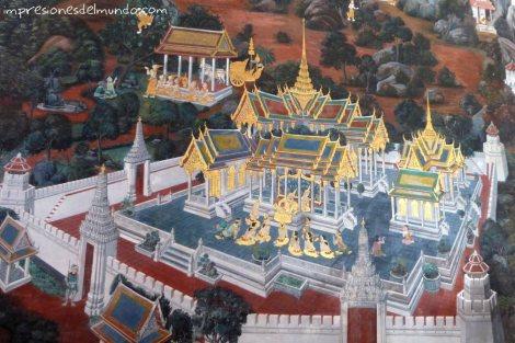 pintura-del-Gran-Palacio-Bangkok-impresiones-del-mundo