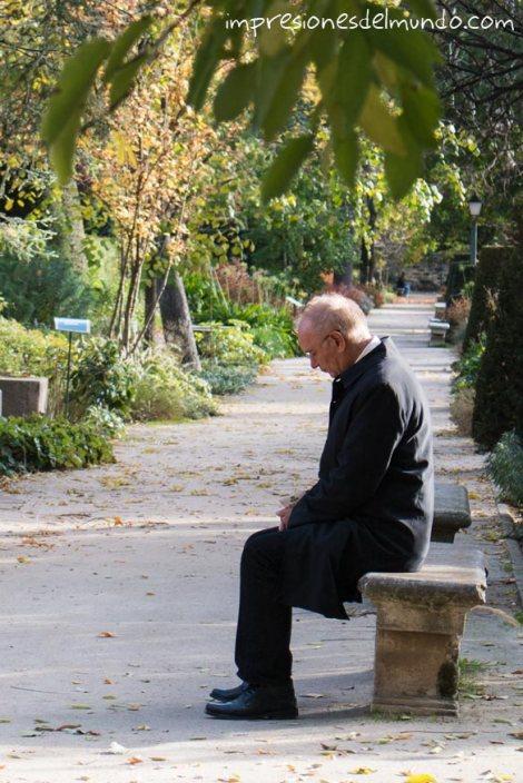 hombre-pensando-jardin-botanico-madrid-impresiones-del-mundo