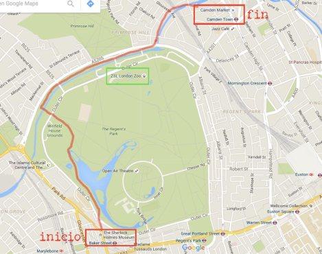 mapa-recorrido-Regent's-Park-Camden-Londres-impresiones-del-mundo